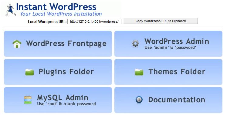 interface-instant-wordpress