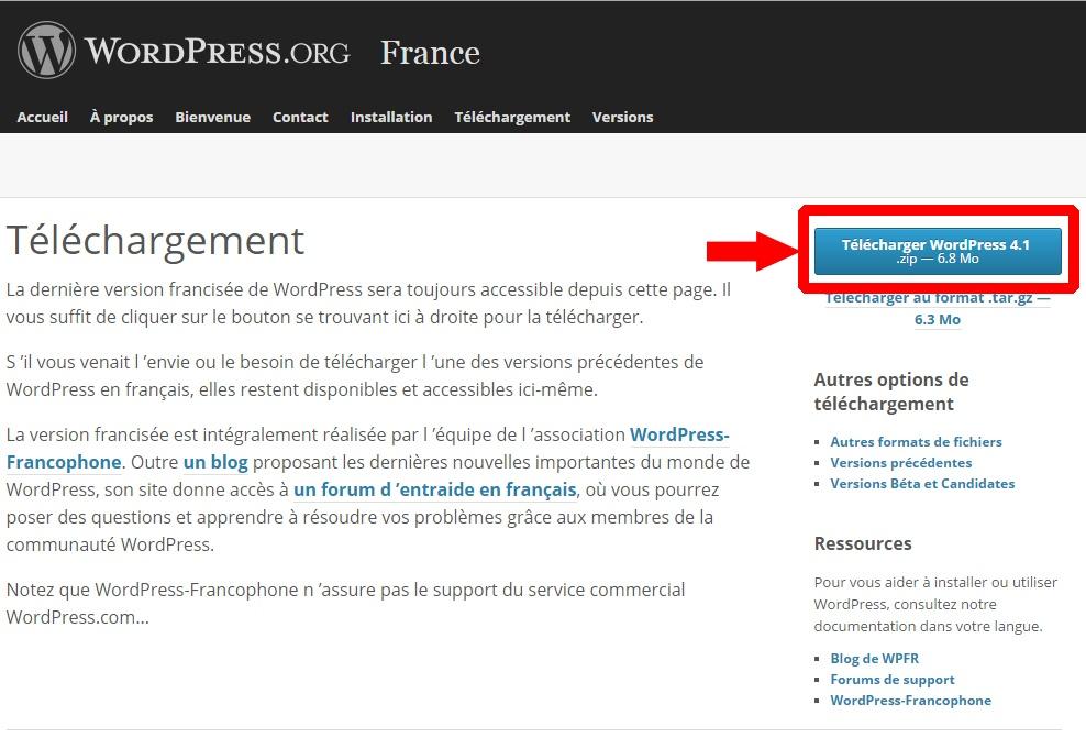 telecharger-wordpress