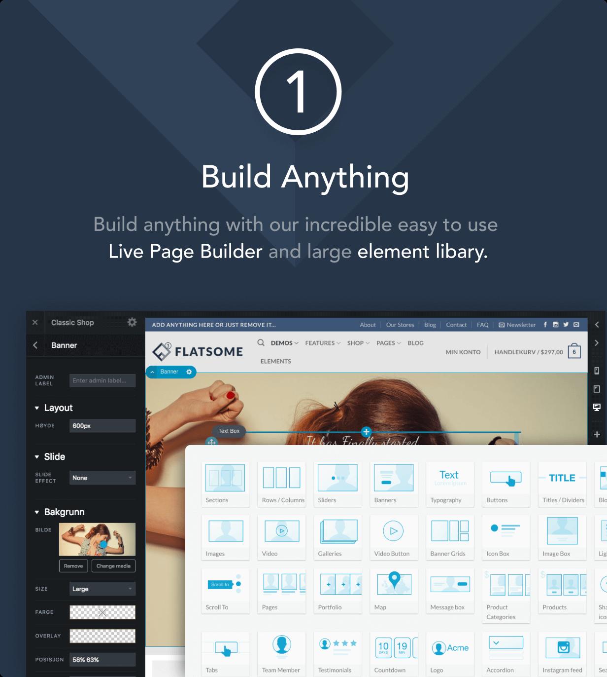 Le constructeur de page UX Builder