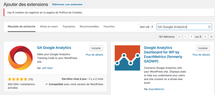 installer google analytics sur wordpress avec un plugin
