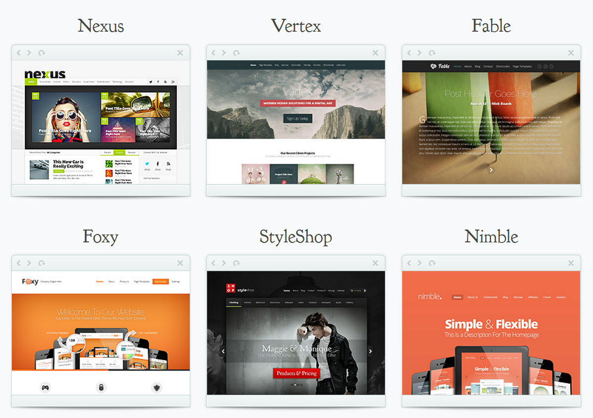 autres themes wordpress elegant themes