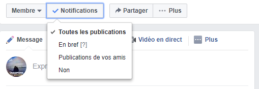 notifications groupe facebook