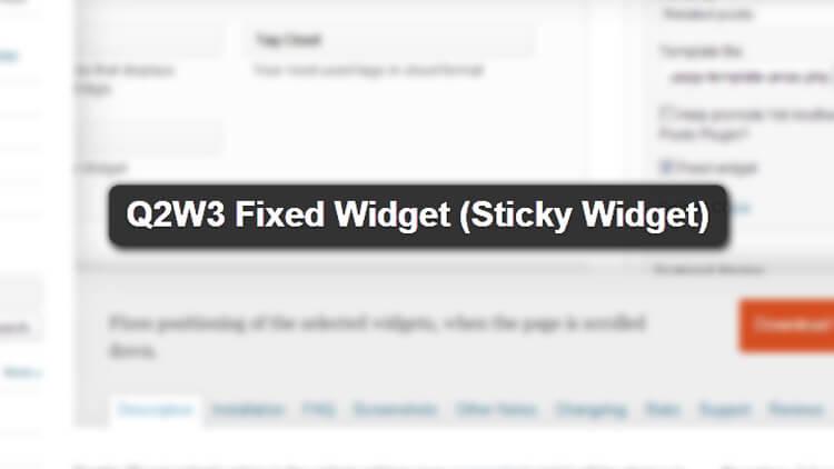 plugin-Q2W3-Fixed-Widget